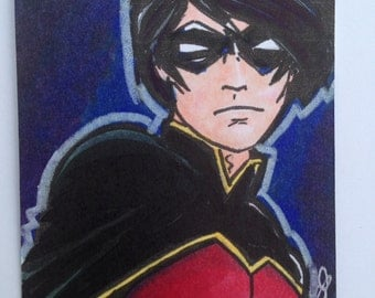 ACEO Original | Robin Project - Tim Drake
