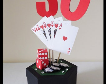 Roll The Dice, Play The Game Table Centrepiece