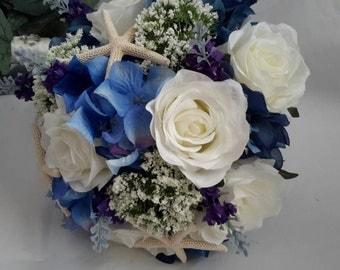 Brides Bouquet, Nautical  Bouquet, Wedding Bouquet, Beach  Wedding, Brides Flowers, Starfish Bouquet