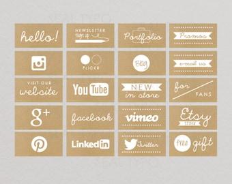 FACEBOOK   Timeline Mod Tab Design : Kraft Paper png DIY Images Instant Download