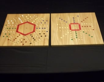 "Aggravation Game 4 & 6 Player Double Sided 15"" x 15"" Board"