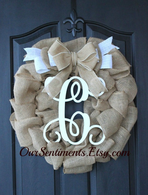 Burlap wreath wreath for door summer wreath by oursentiments - Burlap Wreath Pearl Trimmed Burlap Summer By Oursentiments