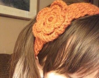 Orange Flower Headband