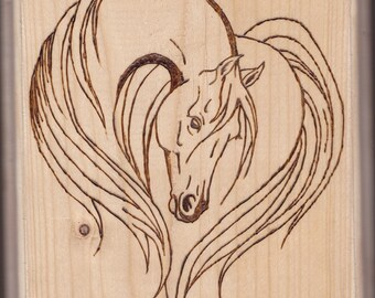 Pyrography Horse