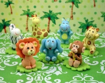 Jungle animals baby shower cake toppers. Jungle Baby Animals. Safari animals cake topper. Jungle Animal Cake.cake decorating.