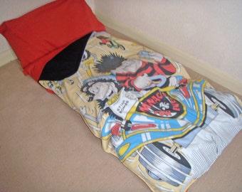 Pillow/Mattress/Nap/Sleepover children's Denise the Menace design sleeping bag bed