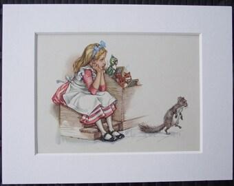 Original 1957 1st Edition 'Alice's Adventures in Wonderland' illustrated by 'Maraja'