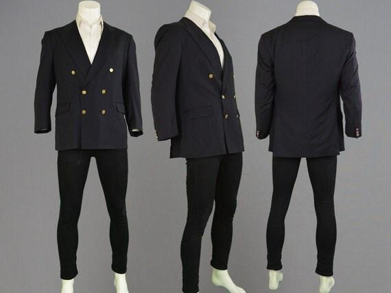 vintage 80er jahre burberry mod blazer double breasted. Black Bedroom Furniture Sets. Home Design Ideas