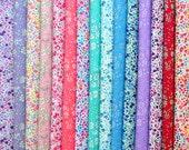 "15 LIBERTY Fabric Tana Lawn 5"" x 5"" Patchwork Charm Squares 'Liberty Phoebe,Liberty Capel', Liberty Fabric Bundles"
