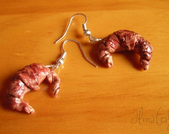 Polymer  Clay Croissants Earrings