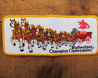 Vintage Horse Patch - World Famous Clydesdale Patch - Anheuser Busch Clydesdale Patch
