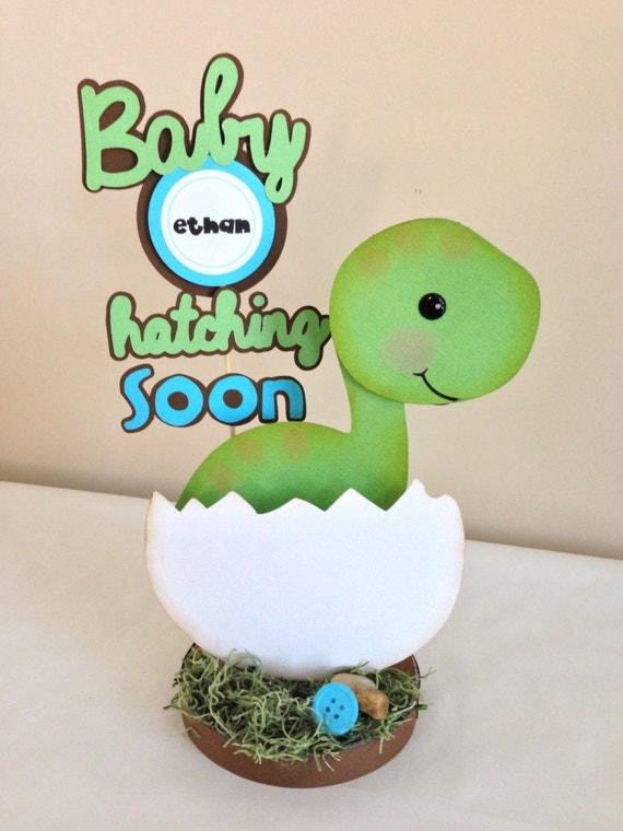custom listing for sarah d baby dino dinosaur centerpiece baby shower