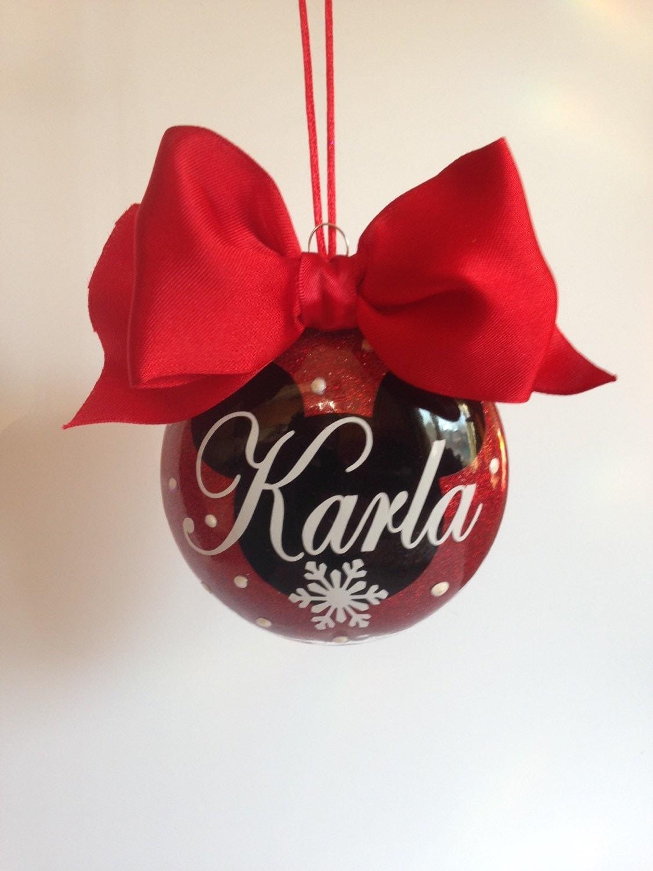 Custom name ornaments -  Name Custom Vinyl Personalized Christmas Ornaments Chri Zoom