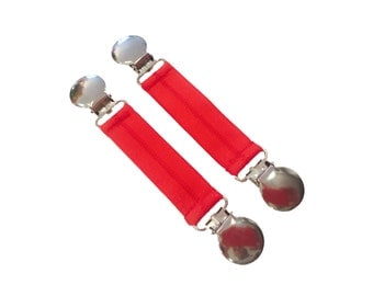 "Red Boot Snugs: 3"" Length Pant Clips, Pant Straps, Boot Straps, Stirrups--Keep Pants Jeans Snug in Your Boots"