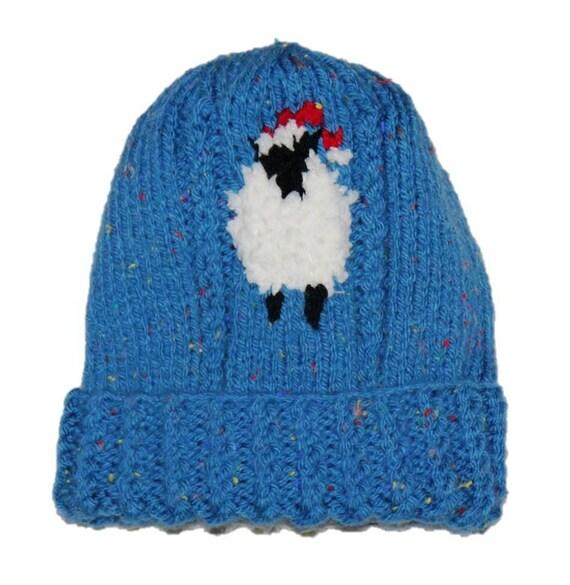 Sheep Knitting A Sweater : Sheep child sweater and hat aran knitting pattern