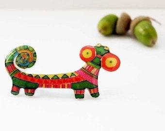 Iguana brooch pin Animal brooch pin Iguana jewelry animal jewelry  clay iguana gifts under 25 (0078)