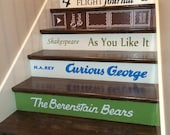 CUSTOM Book Decals- price is for EACH step riser