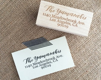 Calligraphy address stamp/Address Stamp/Return Address Stamp/Newlywed Gift/Engagement Gift/Housewarming Gift