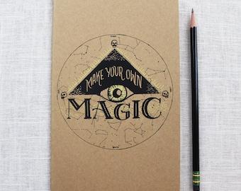 Make Your Own Magic Screen Printed Moleskine Journal