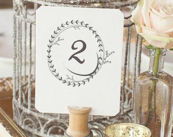 Wedding table markers set