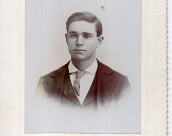 Antique Photo of Cute Young Man ID'd
