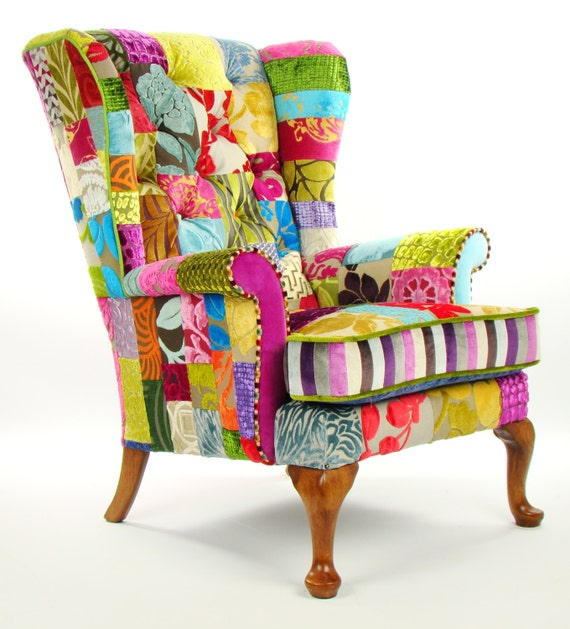 tissu de patchwork sur mesure parker knoll fauteuil designers. Black Bedroom Furniture Sets. Home Design Ideas