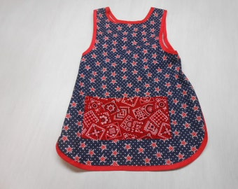 Patriotic Boys Slip on Apron fits 5 to 8 yrs