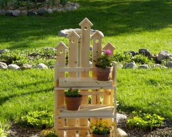 Plant Stand, Wooden Plant Stand, Patio Flower Pot Stand