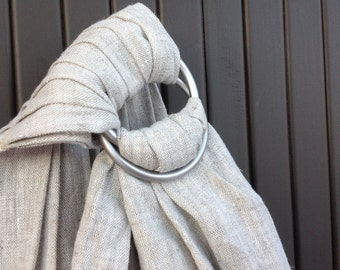 Baby ring sling / personalised baby carrier /baby sling / linen baby sling