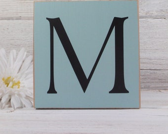 Letter Block Sign- Hand Painted Wooden Block- Country Decor- Wooden Blocks- Quotes- Vintage Style- Distressed- Home Decor