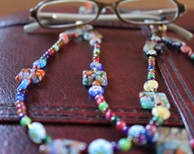 Unique Eyeglass Chain, Colorful Holder for Glasses, Reading Glasses Chain Accessory, Gift Idea for Women