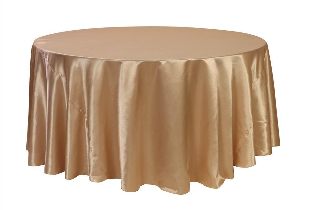 120 inch champagne satin round tablecloth wedding for 120 round table cloths