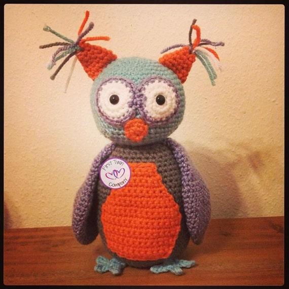 Amigurumi Cute Owl Twins : Little Hoot the Owl amigurumi stuffie toy crochet pattern owl