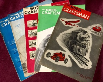 1946 '47 Model Crafstman Magazines (4)