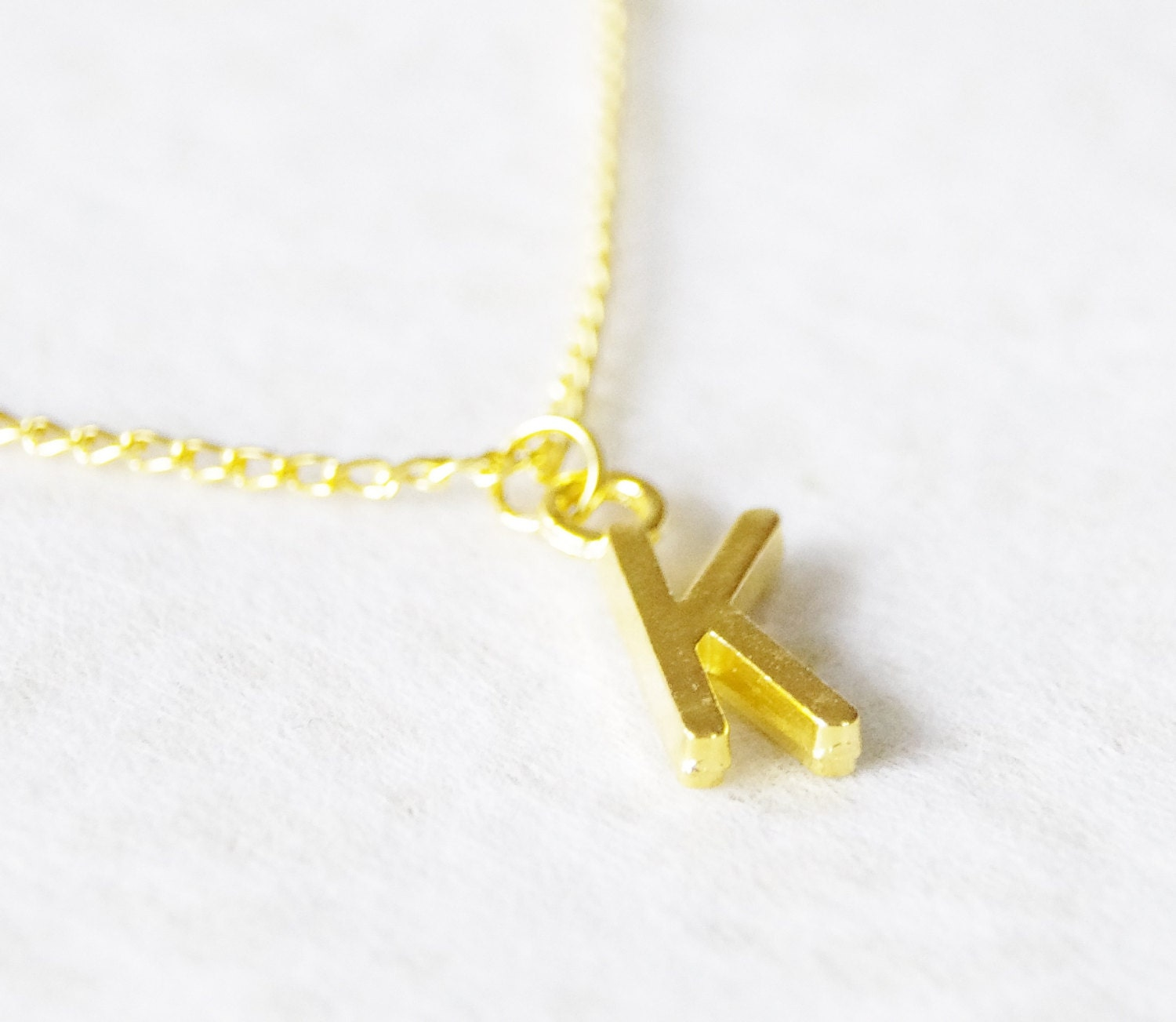 Initial necklace gold letter necklace personalized necklace for Custom letter necklace gold