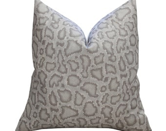 ON SALE -  Schumacher Mary McDonald Park Avenue Python Pillow Cover in Dove