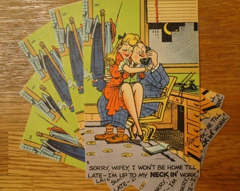 Vintage Funny Postcards (Linen Finish)