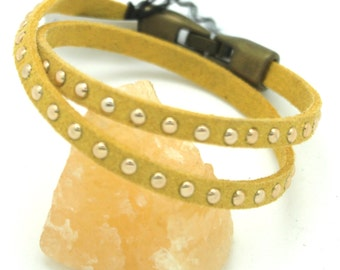 Yellow stud bracelet wrap around