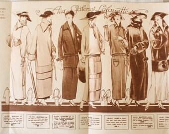 """1920s fashion leaflet, Paris Department store """"Galeries Lafayette"""" ad"""