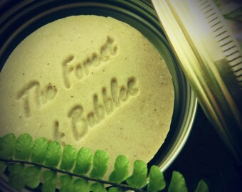 Rhassoul and Neem Solid Shampoo for oily, dandruff hair. Eco Frienly, Great for Tavelling and Sports