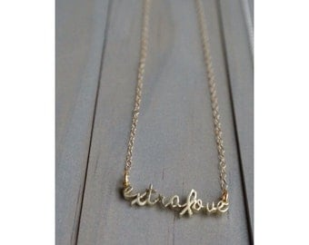 Extralove brass Down syndrome necklace