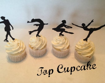 Figure Skating Cupcake Toppers -12