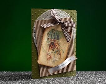 Handmade Christmas Card Little Angels