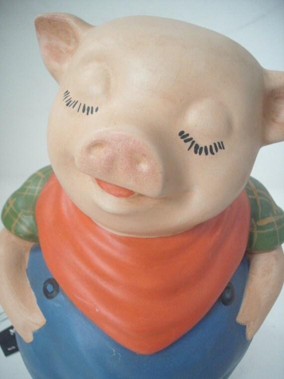 Pig piggy bank ceramic pig bank childrens bank toy bank for Childrens piggy bank