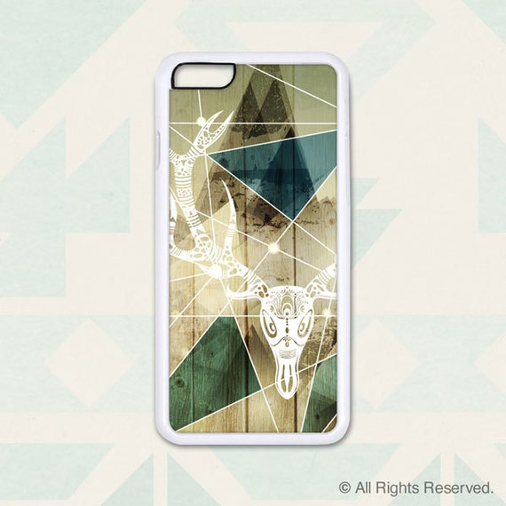 iPhone 6, 6+, 5 5s, 5c, 4 4s, Samsung S3, S4, S5 - Deer Antler on Wood and Landscape - Design Cover 205