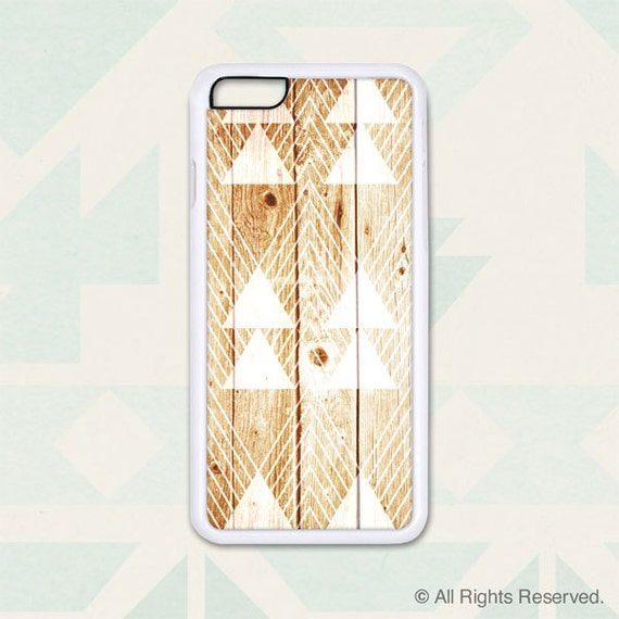 Triangles on Golden Wood - Design Cover 210 - iPhone 6, 6+, 5 5s, 5c, 4 4s, Samsung S3, S4, S5