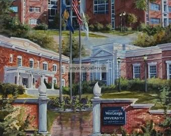 West Georgia University Print by Anni Moller