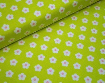 "0,5 m Printed fabric ""Fawn Meadow""  114 cm w.  Flower green"