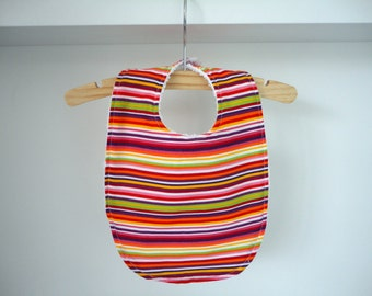 Bib with colorful stripes
