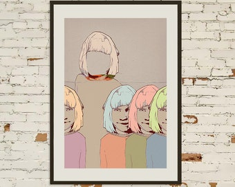 FINE ART PRINT Hand Signed - We Belong With You - 2014.